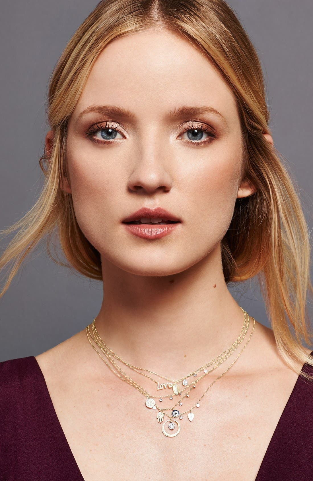 Alternate Image 2  - Meira T Dazzling Diamond Disc Pendant Necklace