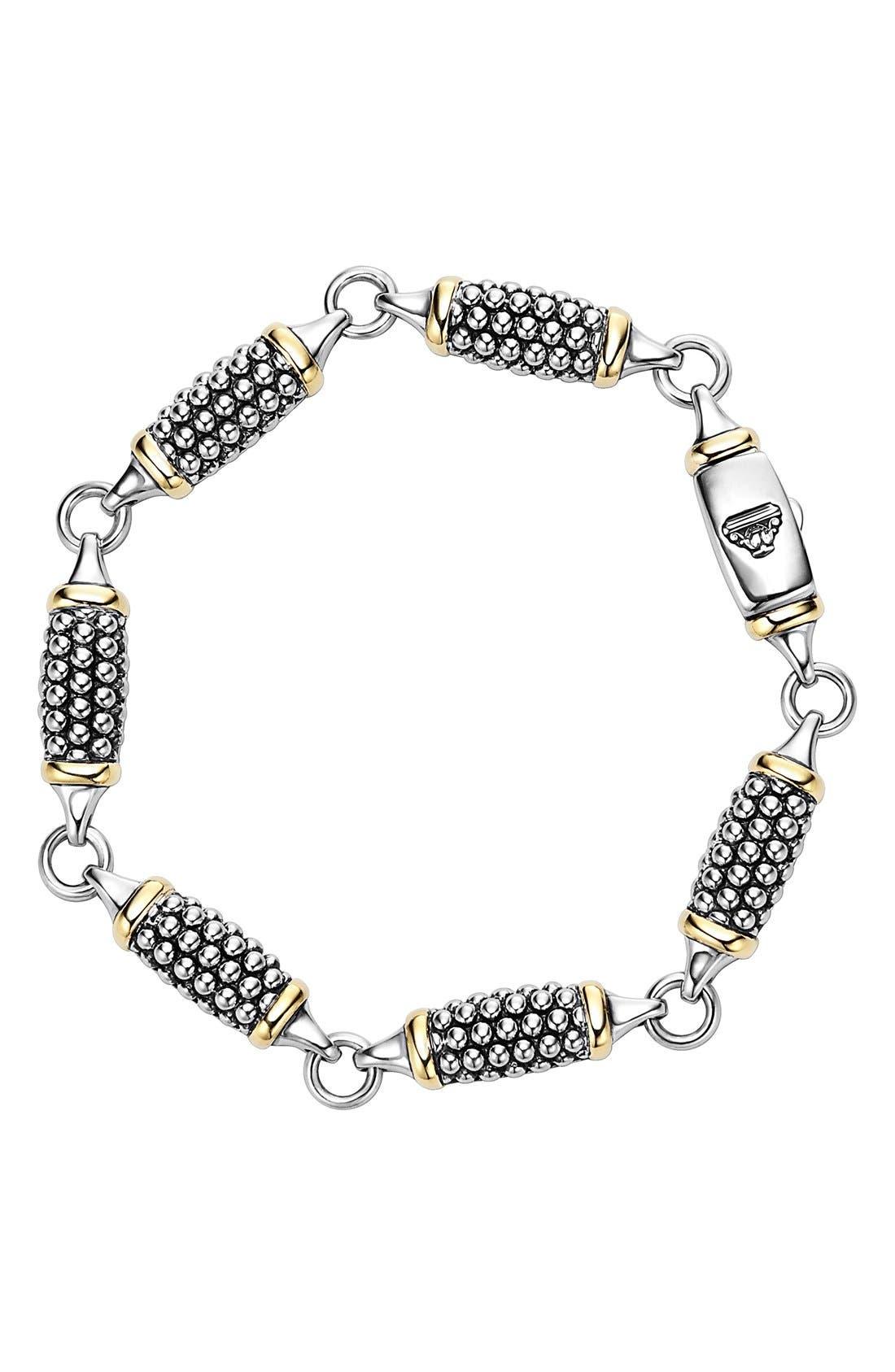 'Caviar Forever' Link Bracelet,                         Main,                         color, Silver/ Gold