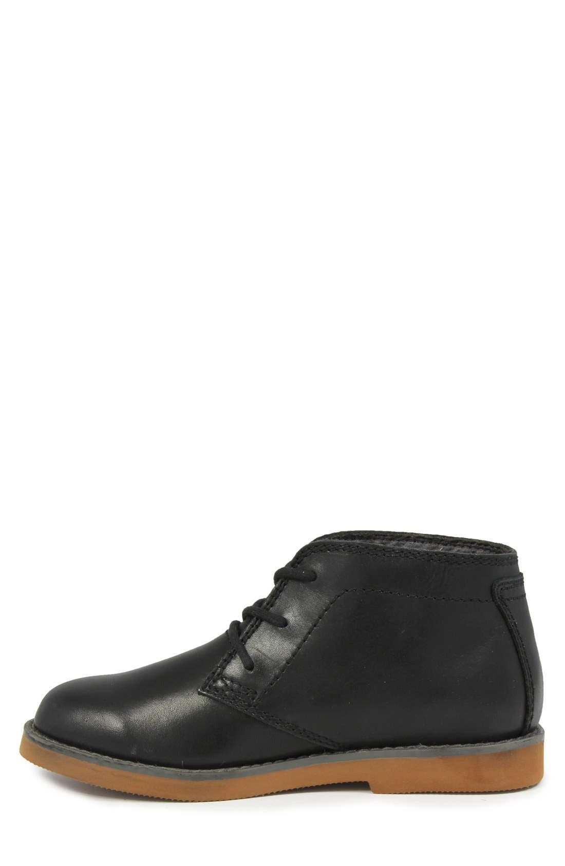 'Bucktown' Chukka Boot,                             Alternate thumbnail 4, color,                             Black Smooth With Brick Sole