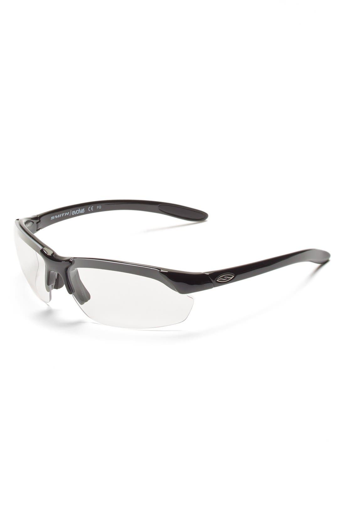 'Parallel Max' 65mm Polarized Sunglasses,                             Alternate thumbnail 7, color,                             Black/ Polar Grey/ Clear