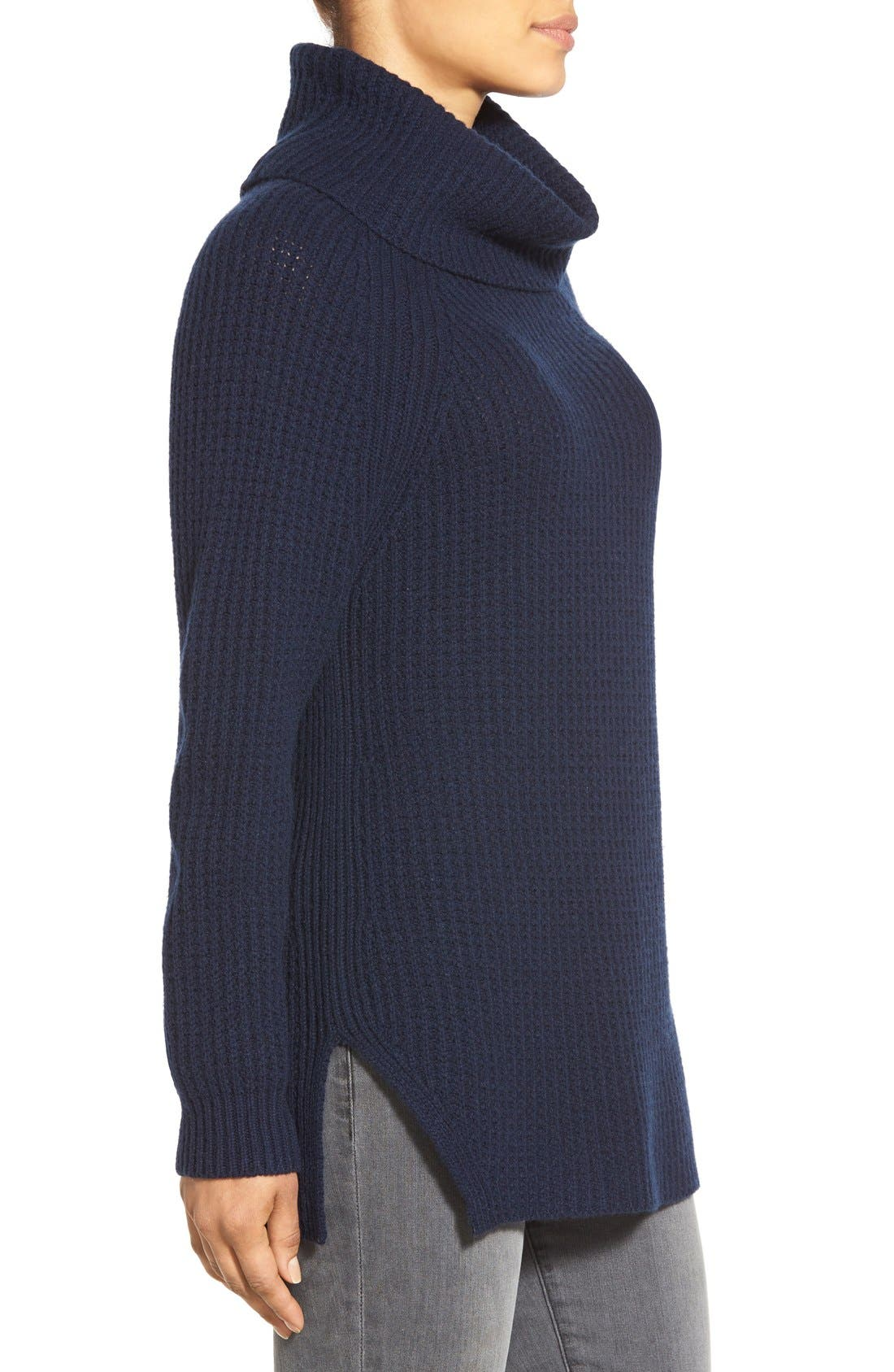 Alternate Image 3  - Nordstrom Collection Wool & Cashmere Turtleneck Sweater