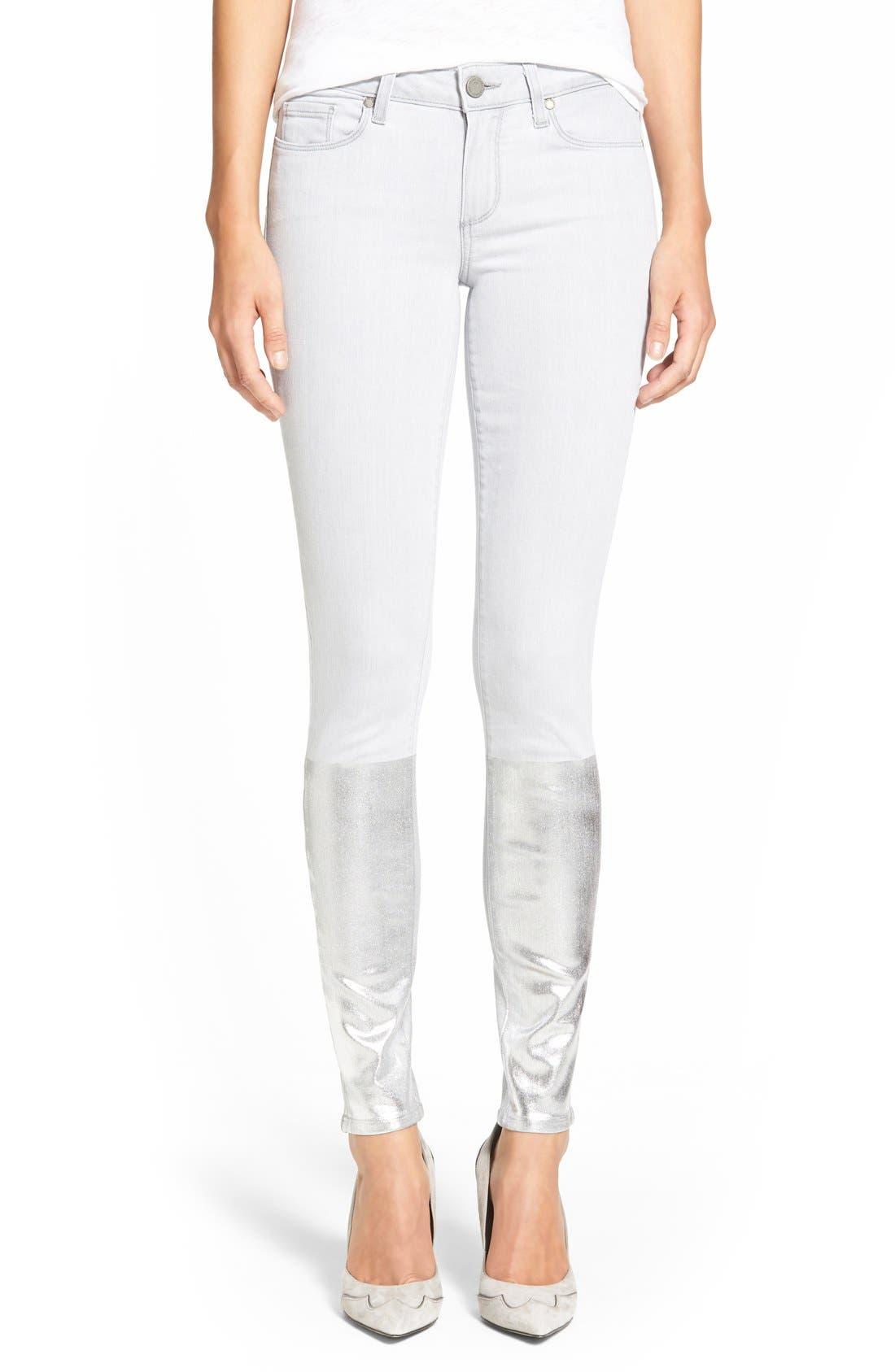Alternate Image 1 Selected - PaigeDenim 'Verdugo' Ankle Ultra Skinny Jeans (Light Grey/Silver Solstice)