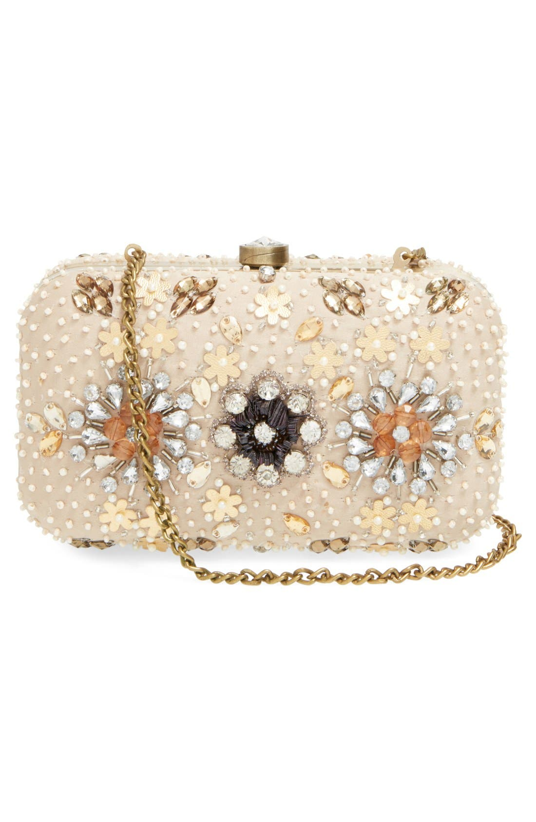 Alternate Image 3  - Natasha Couture Bead & Crystal Floral Clutch