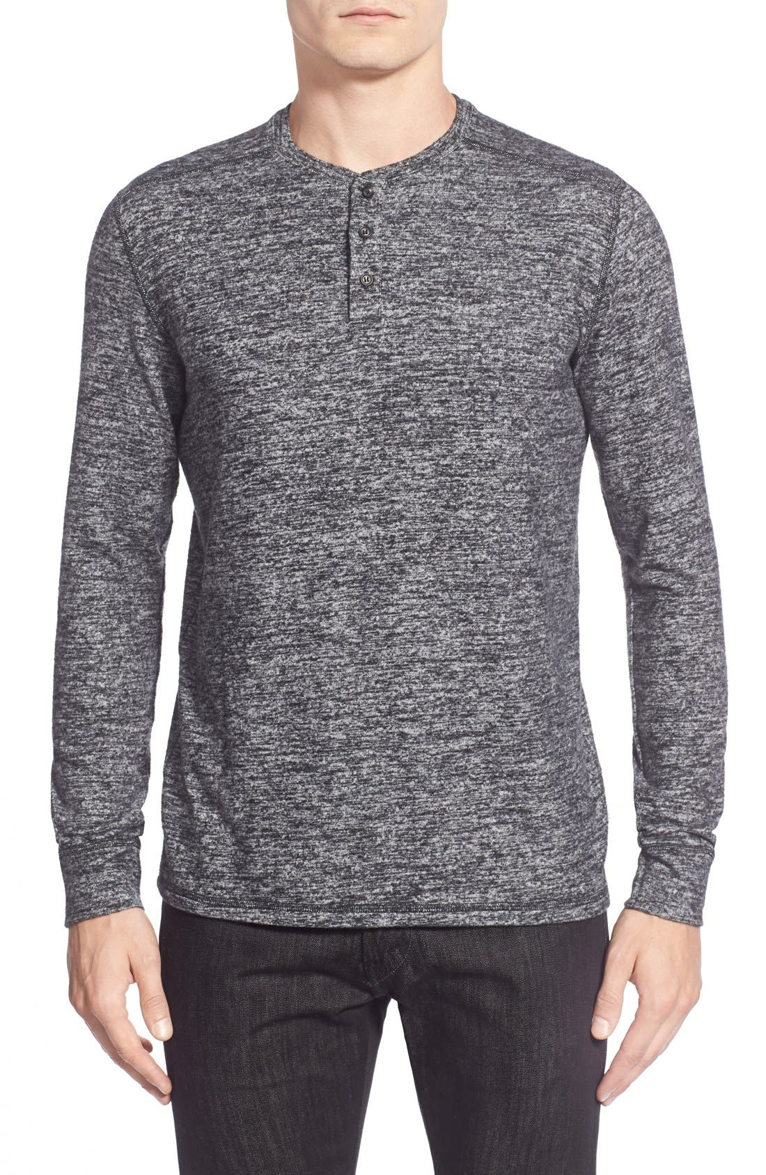 Main Image - Velvet by Graham & Spencer Long Sleeve Henley