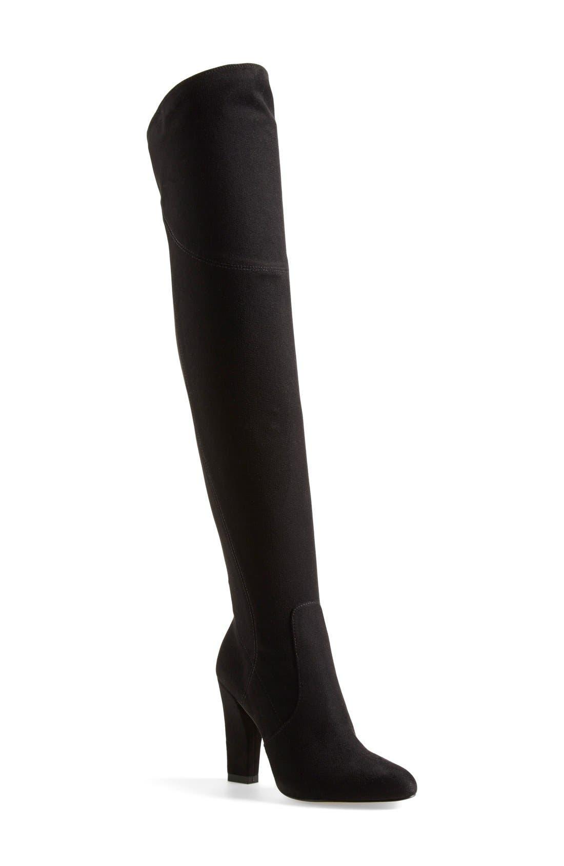 Alternate Image 1 Selected - IvankaTrump 'Saffri' Over the Knee Suede Boot (Women)