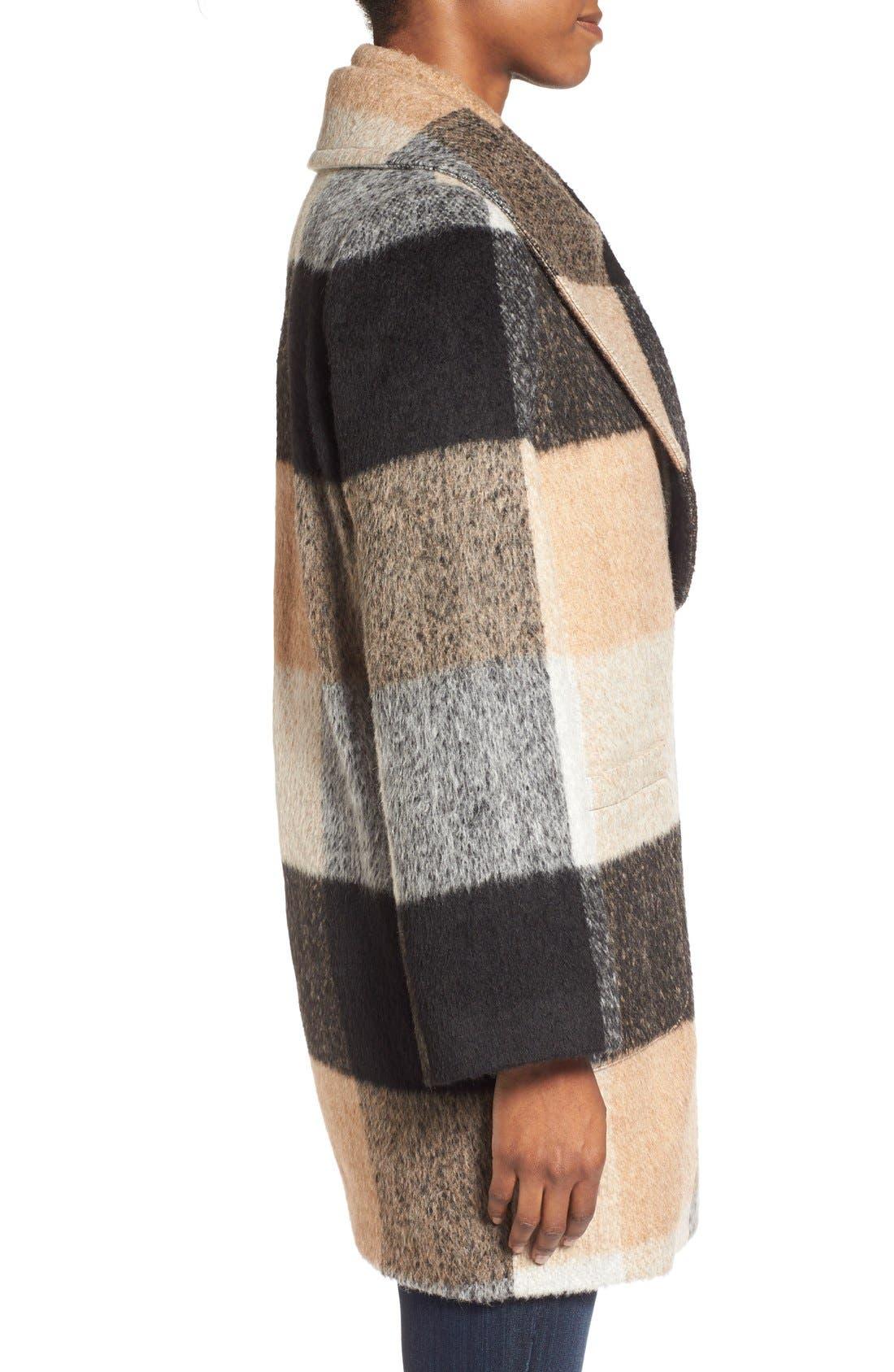 Alternate Image 3  - BadgleyMischka'Maxine' Plaid Oversize Coat