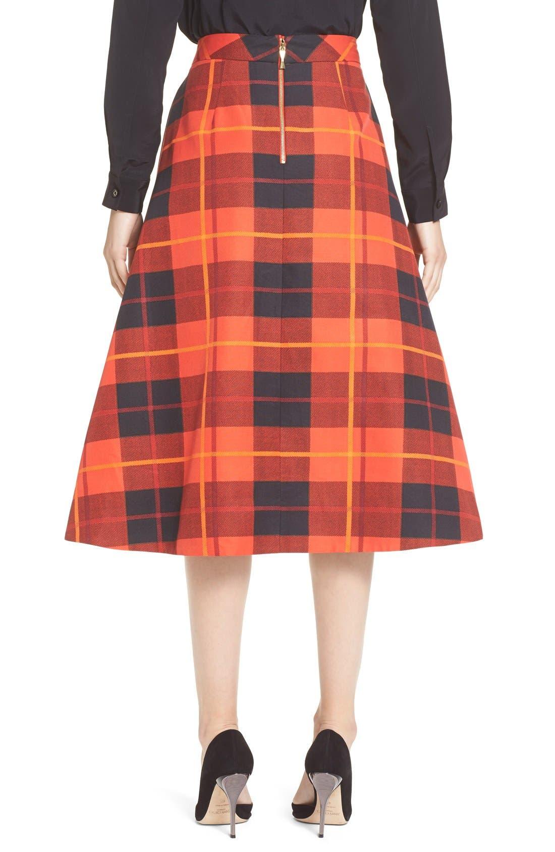 Alternate Image 2  - katespade new yorkwoodland plaid midi skirt