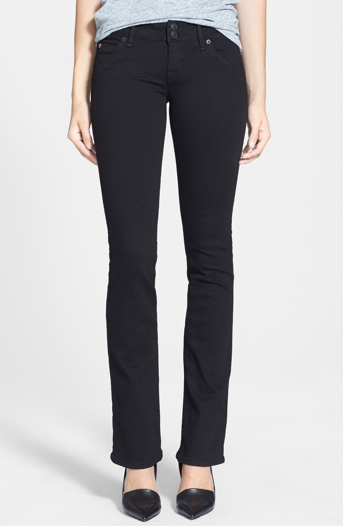 Main Image - Hudson Jeans 'Beth' Baby BootcutJeans (Black)