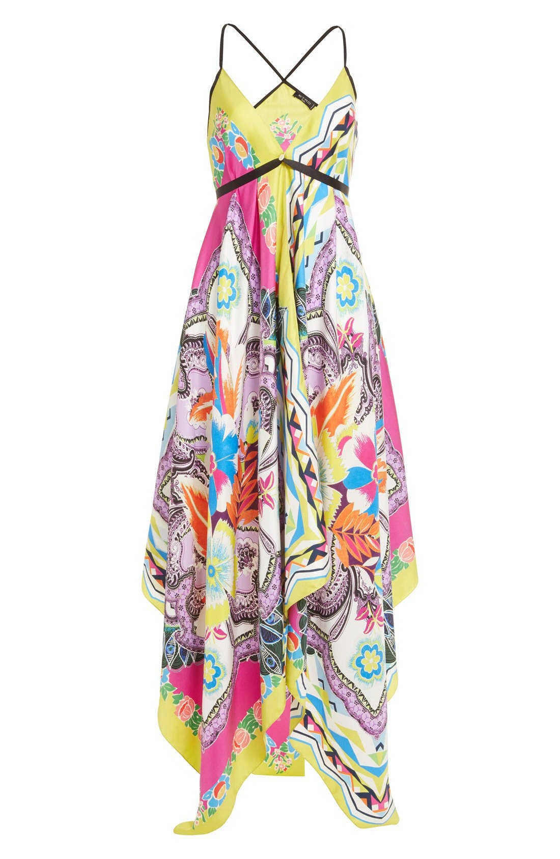 Alternate Image 4  - Etro Floral Print Silk Handkerchief Dress