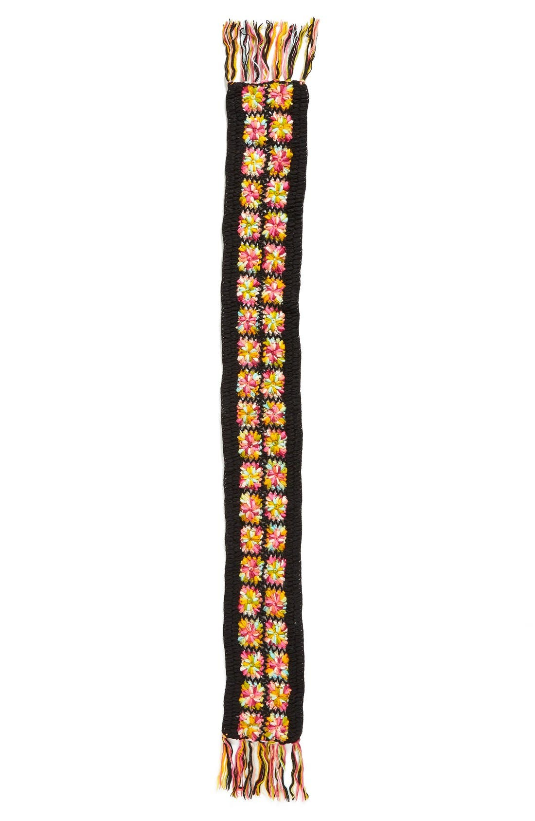 Alternate Image 2  - Nirvanna Designs Crochet Flower Scarf