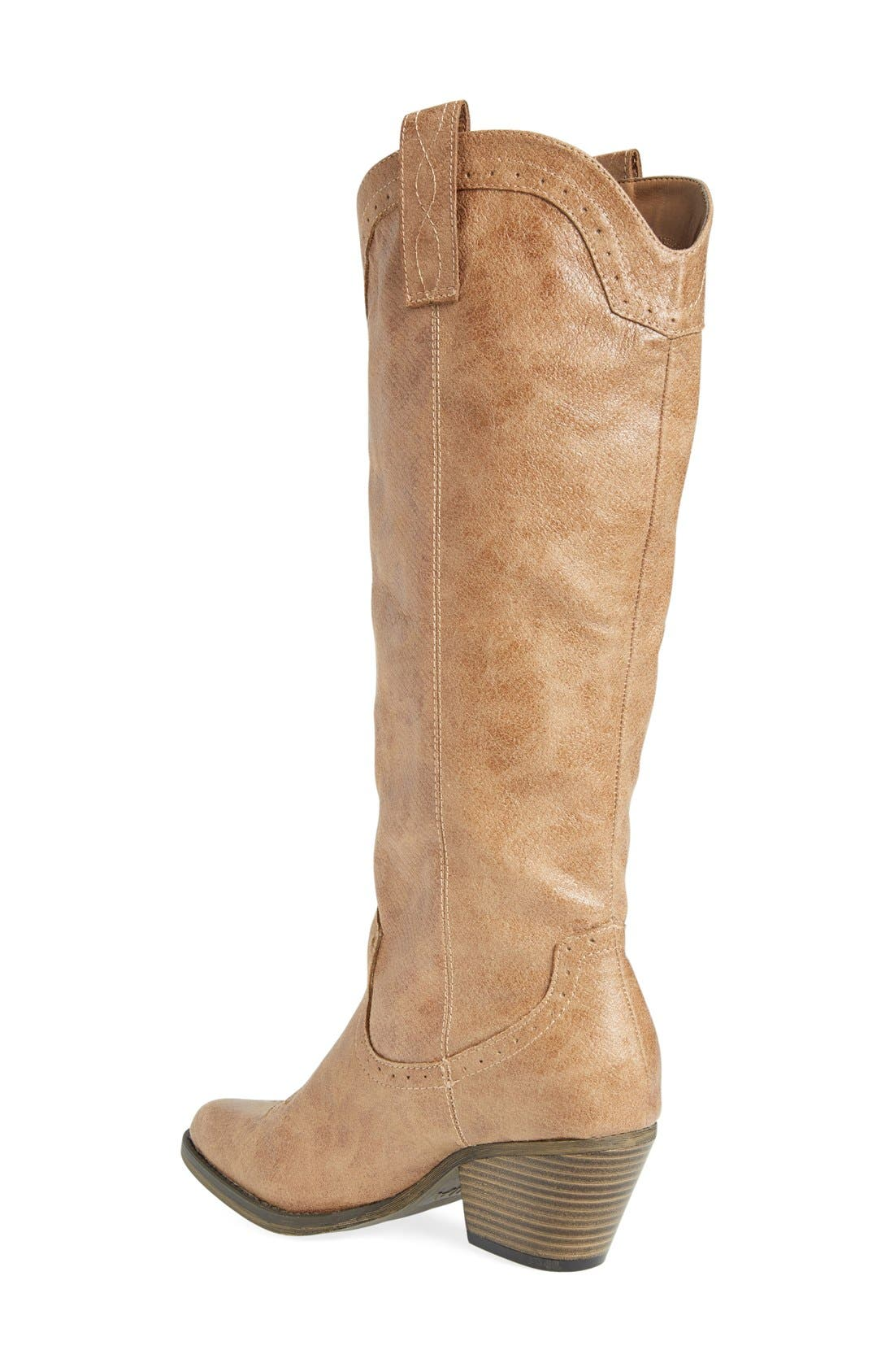 'Pawn' Boot,                             Alternate thumbnail 2, color,                             Natural Faux Leather