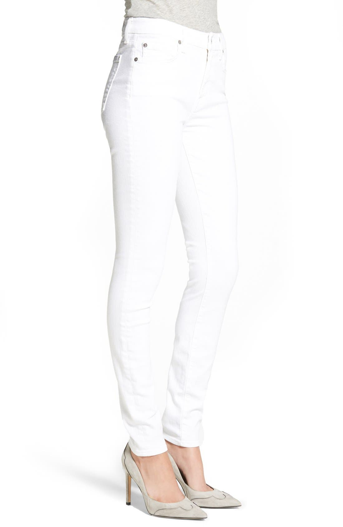 'The Skinny' Skinny Jeans,                             Alternate thumbnail 3, color,                             Clean White