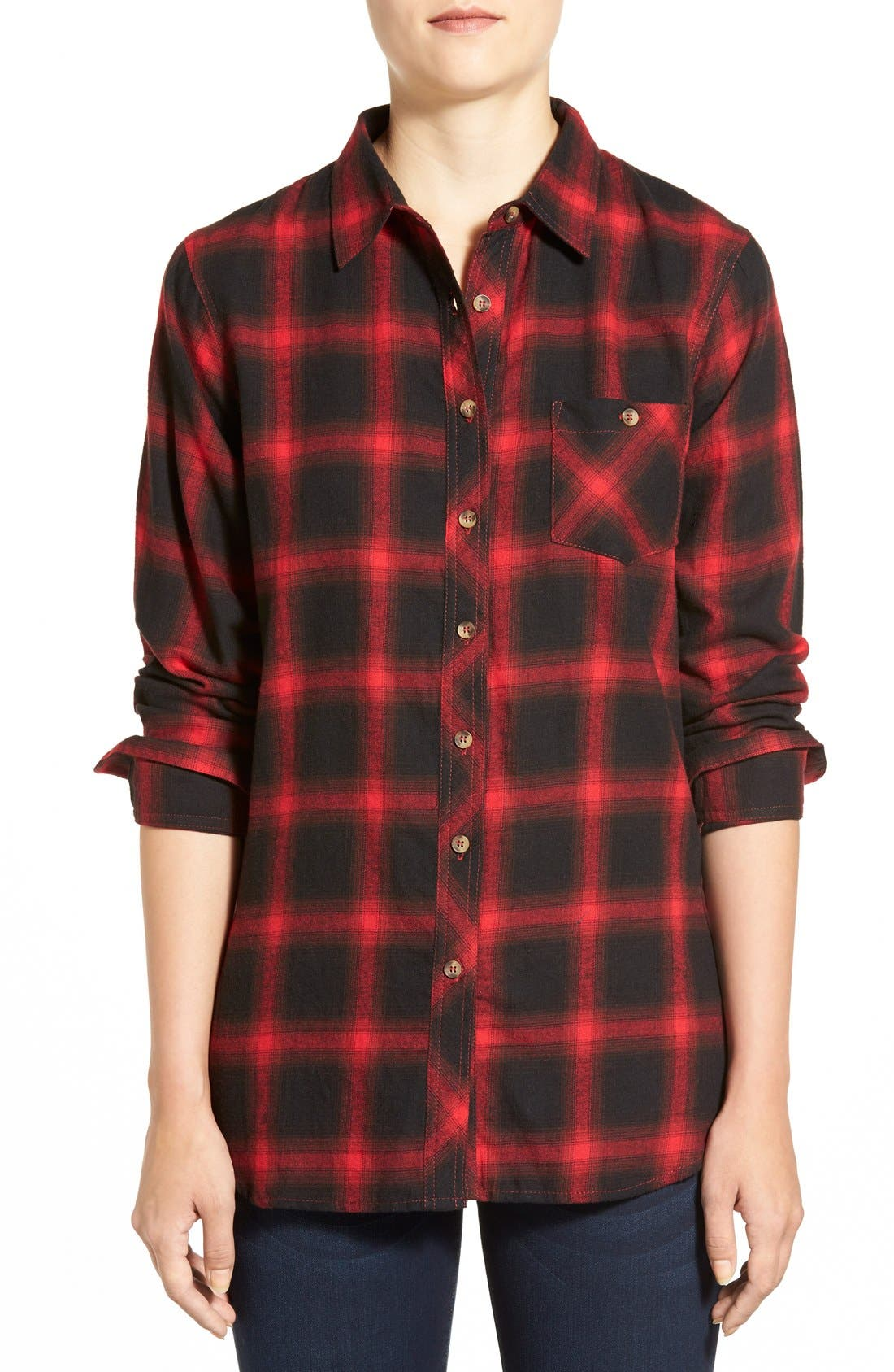 Alternate Image 1 Selected - Sandra Plaid Side Button Detail Tunic