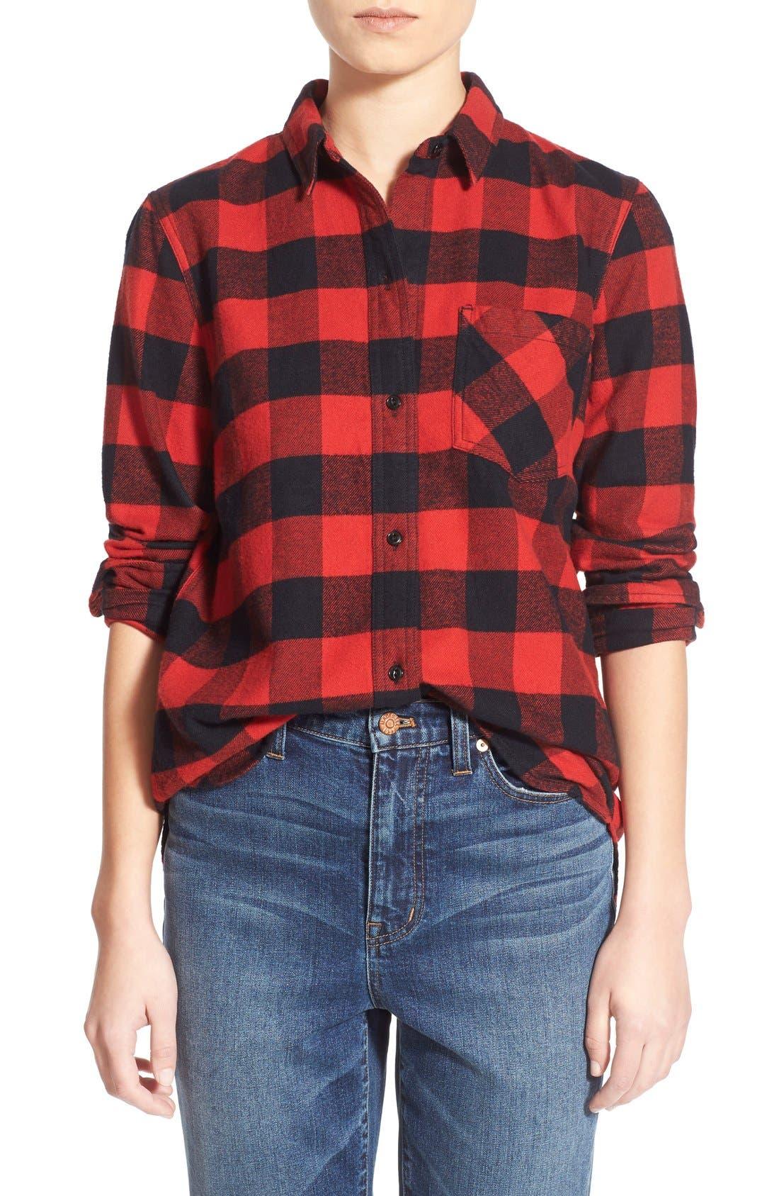 Main Image - Madewell 'Ex Boyfriend' Buffalo Check Shirt