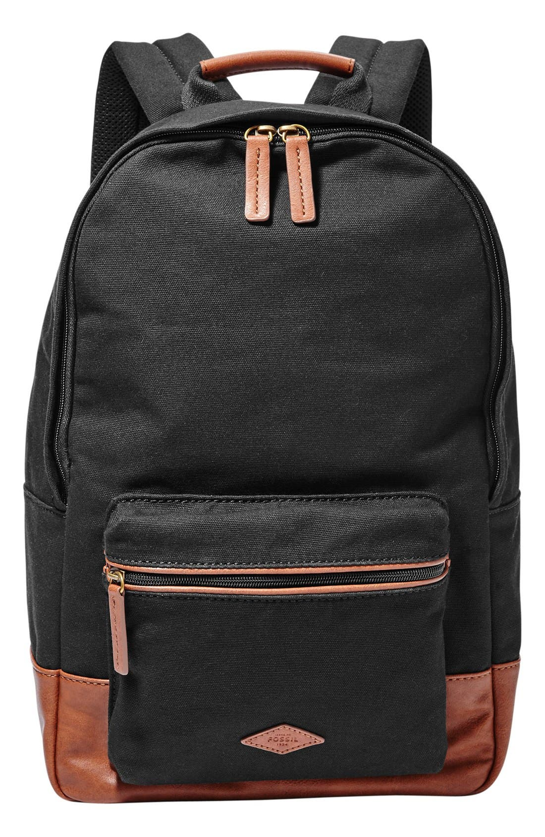 Main Image - Fossil 'Estate' Canvas Backpack