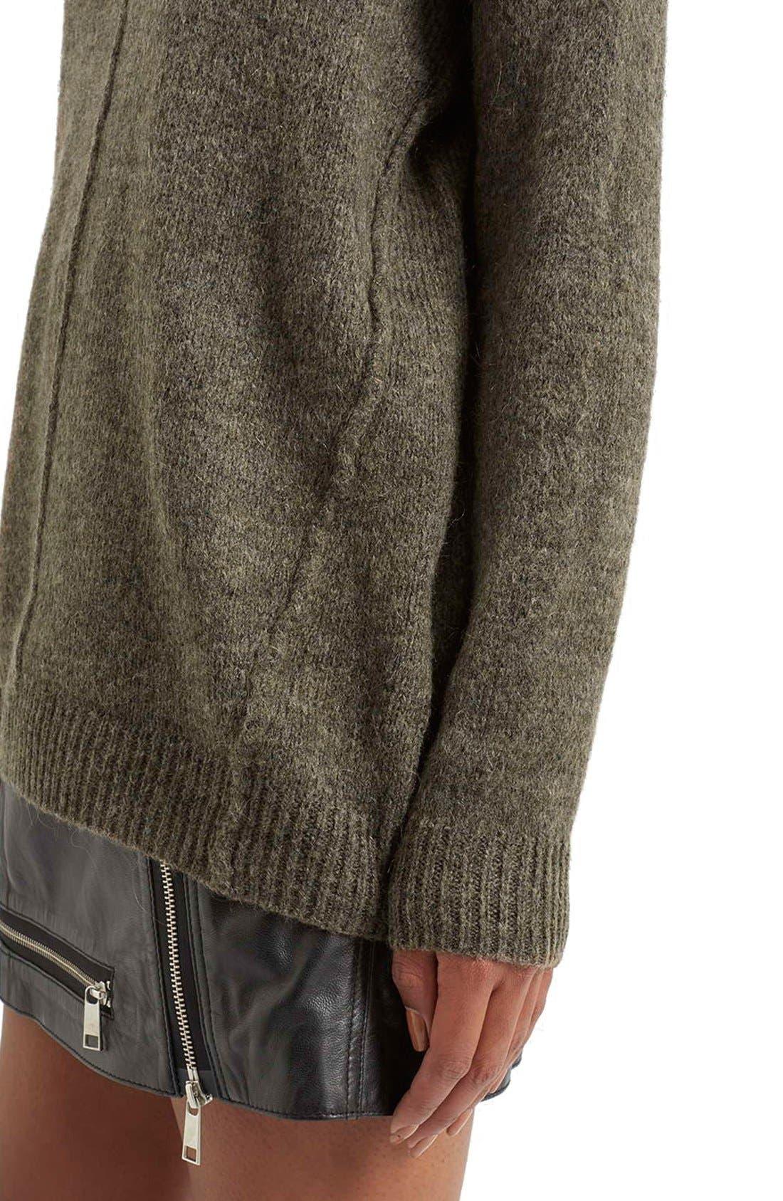 Alternate Image 4  - Topshop Longline Pullover Sweater