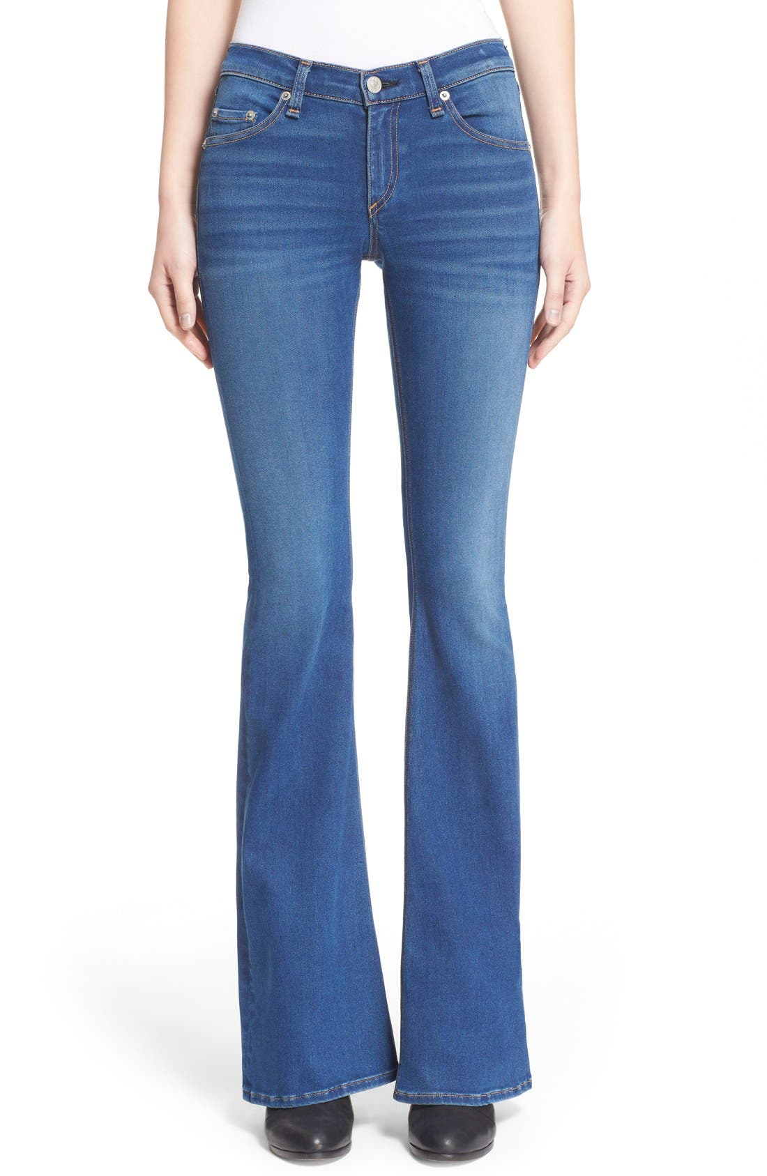 Alternate Image 1 Selected - rag & bone/JEAN Bell Bottom Jeans (Houston)