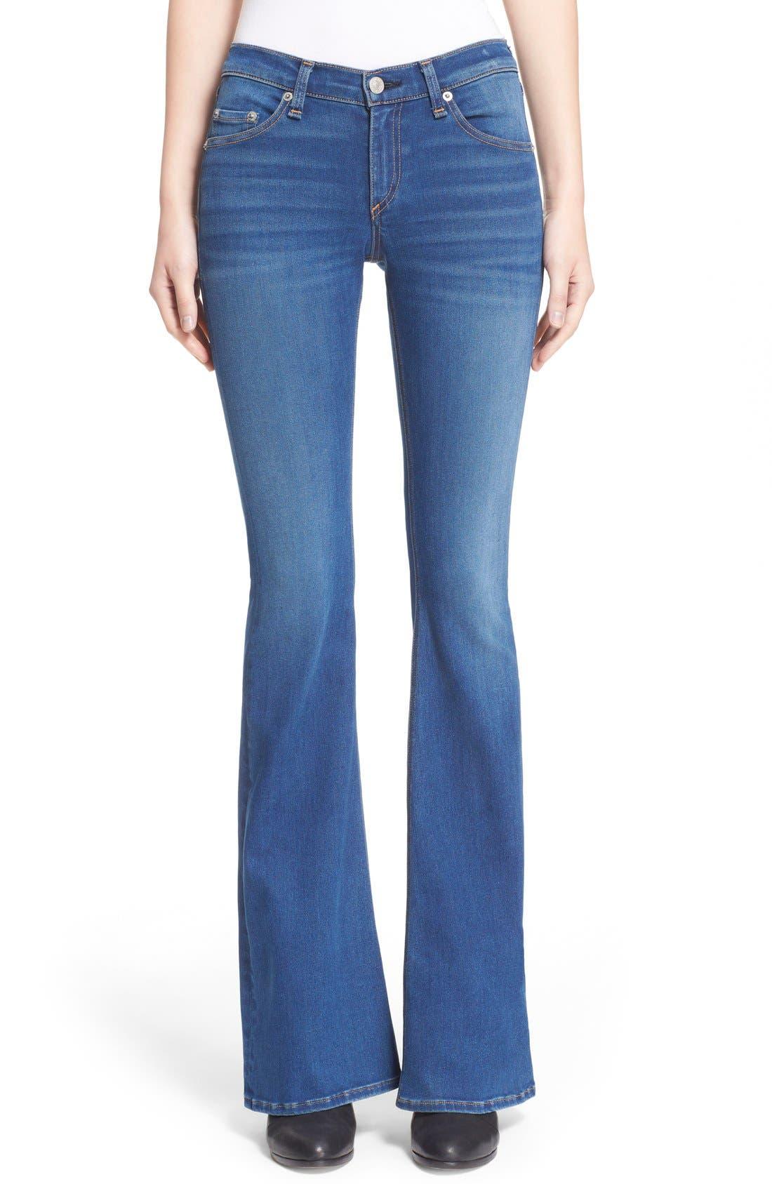 Main Image - rag & bone/JEAN Bell Bottom Jeans (Houston)