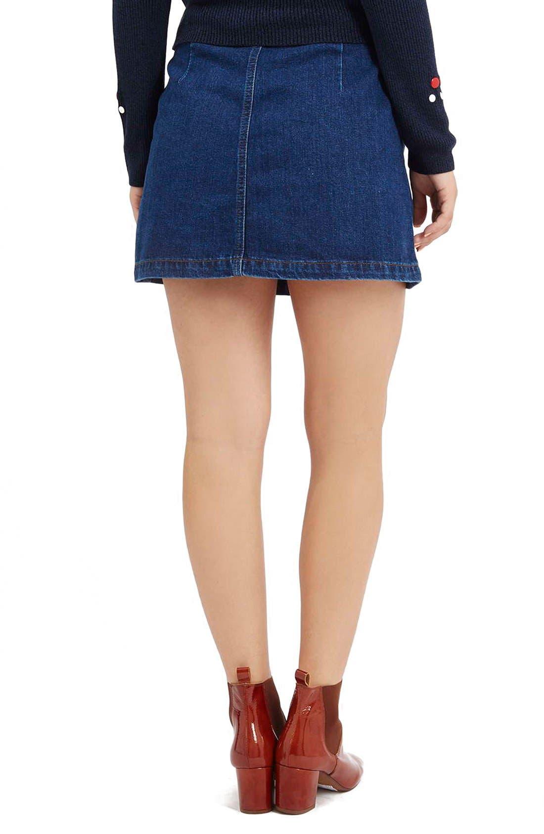 Alternate Image 3  - TopshopButton Front Denim Skirt