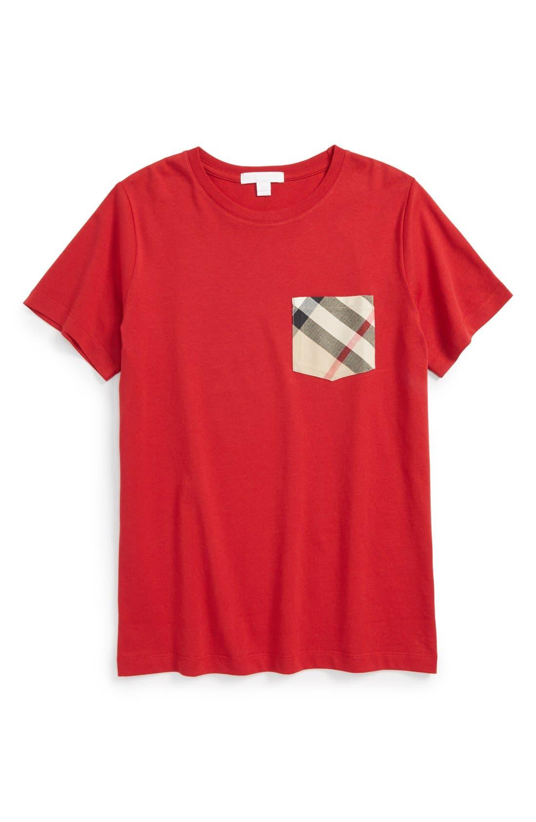 Alternate Image 1 Selected - Burberry Contrast Pocket T-Shirt (Little Boys & Big Boys)