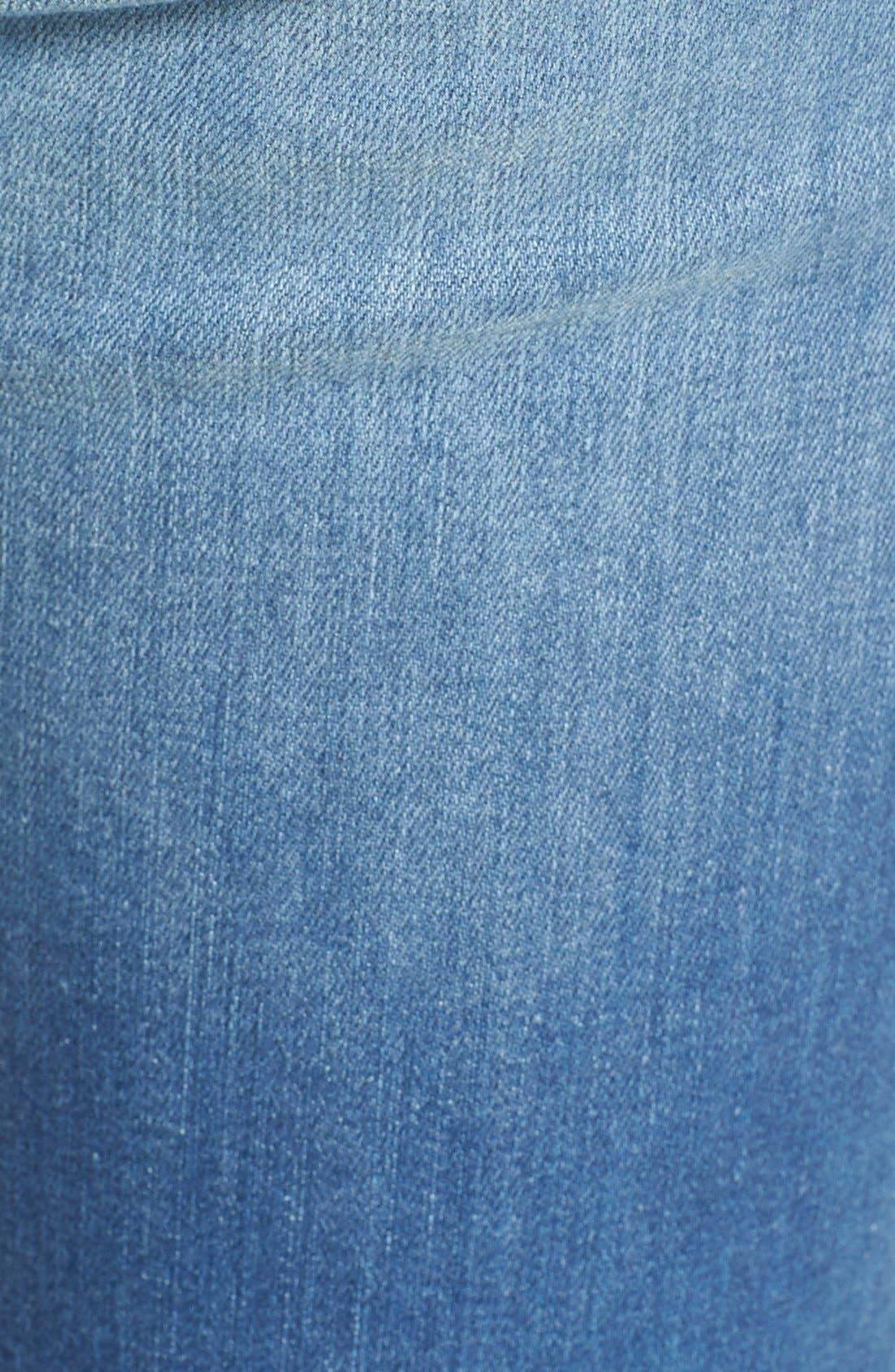 Alternate Image 5  - SP Black Rip & Repair Skinny Jeans (Light Wash)