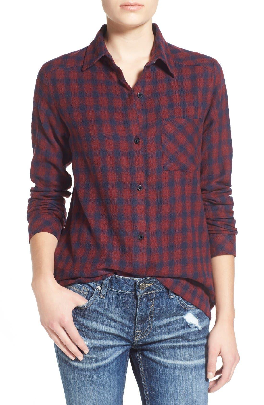 Alternate Image 1 Selected - RVCA'Jig 2'Plaid Shirt