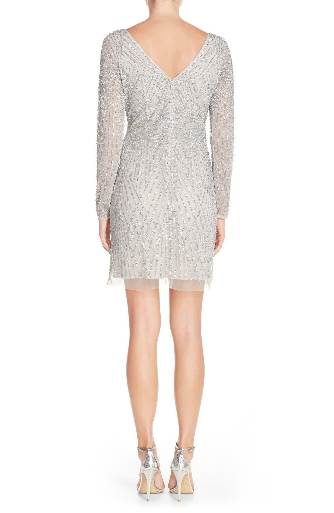 Alternate Image 2  - Aidan Mattox Embellished Mesh Sheath Dress