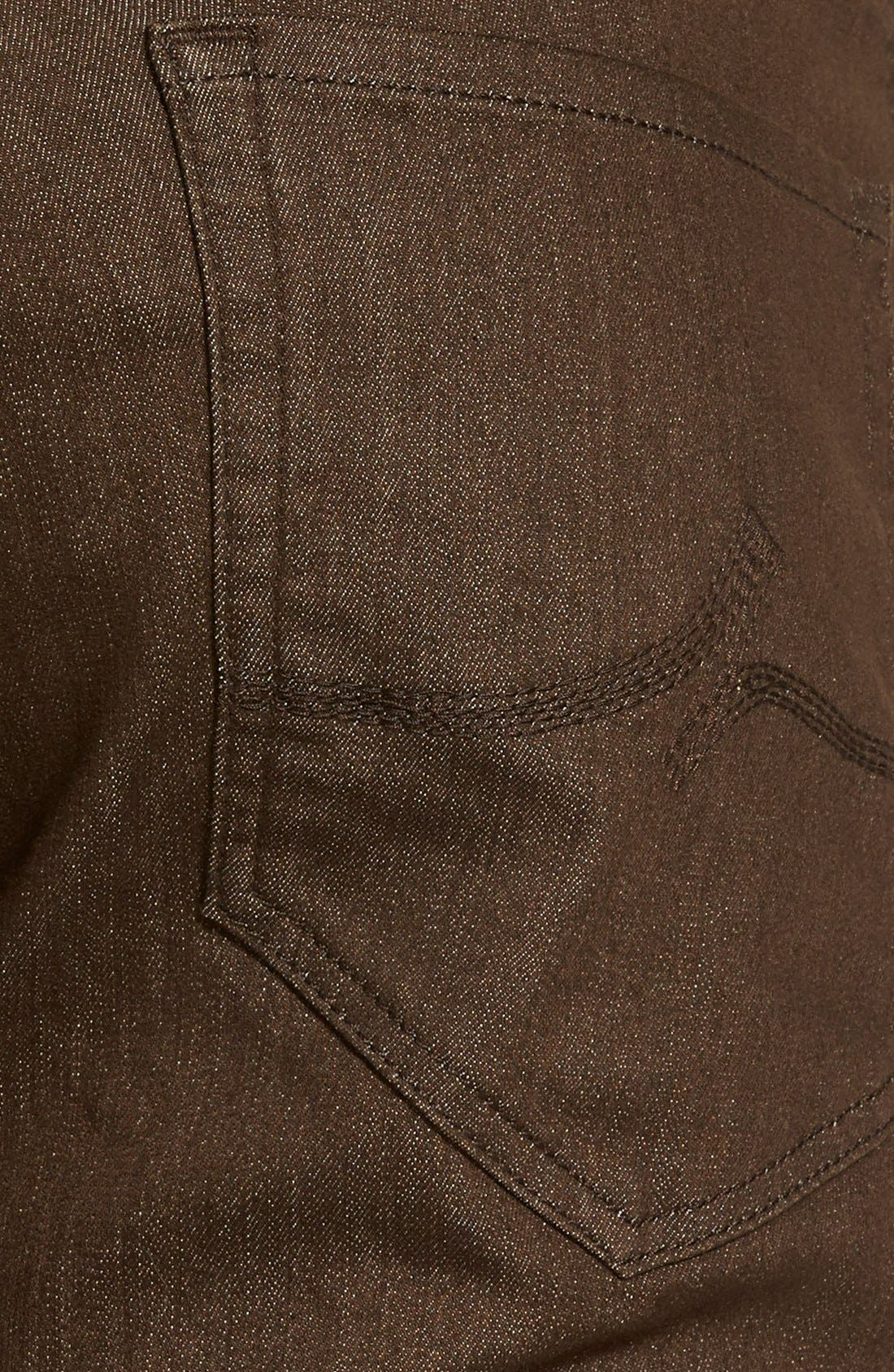 'Charisma' Relaxed Fit Jeans,                             Alternate thumbnail 4, color,                             Brown Comfort