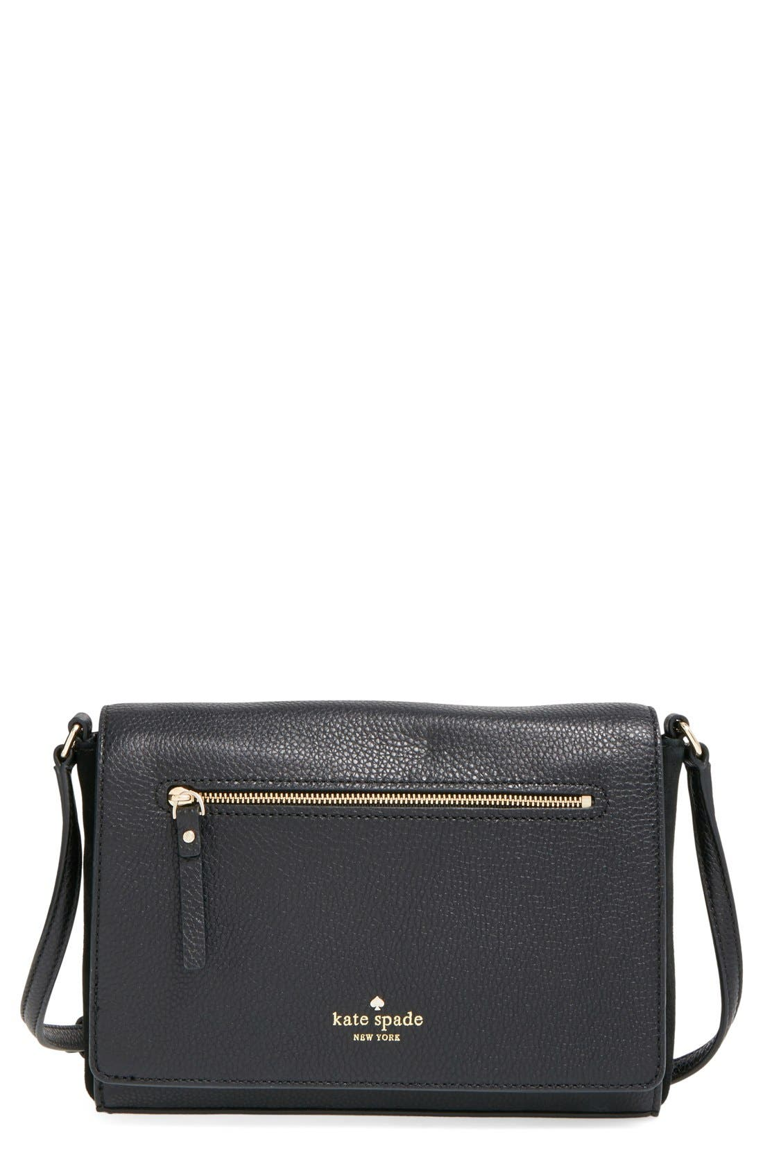 Main Image - kate spade new york 'matthews drive - patty' leather & suede crossbody bag