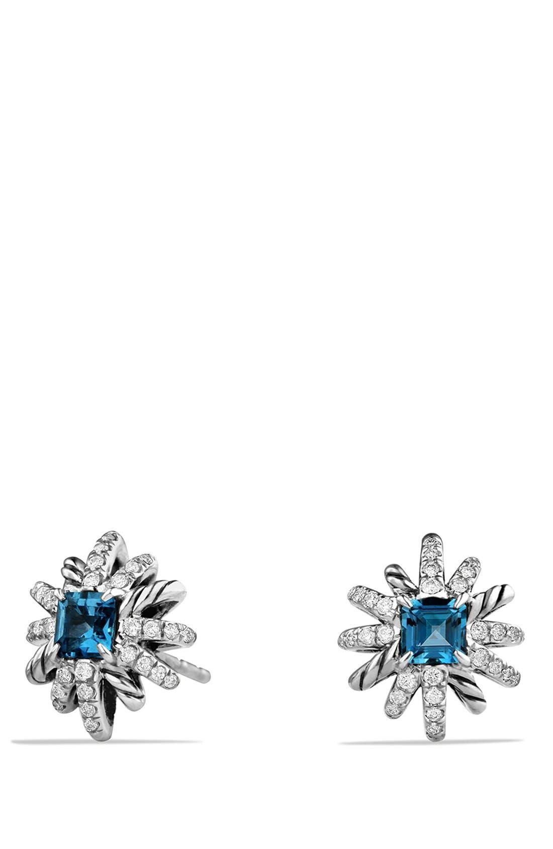 'Starburst' Earrings,                             Main thumbnail 1, color,                             Hampton Blue Topaz