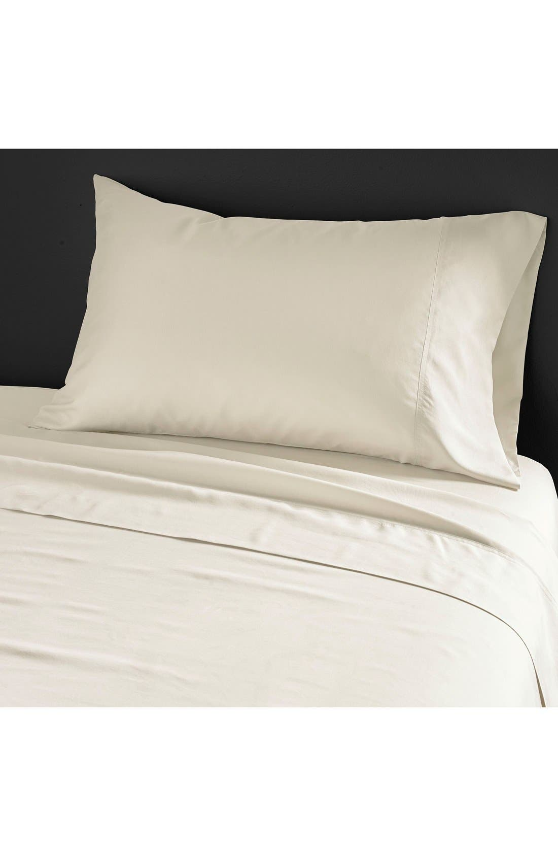Main Image - Donna Karan Collection 'Silk Essentials' Habutai Silk Fitted Sheet