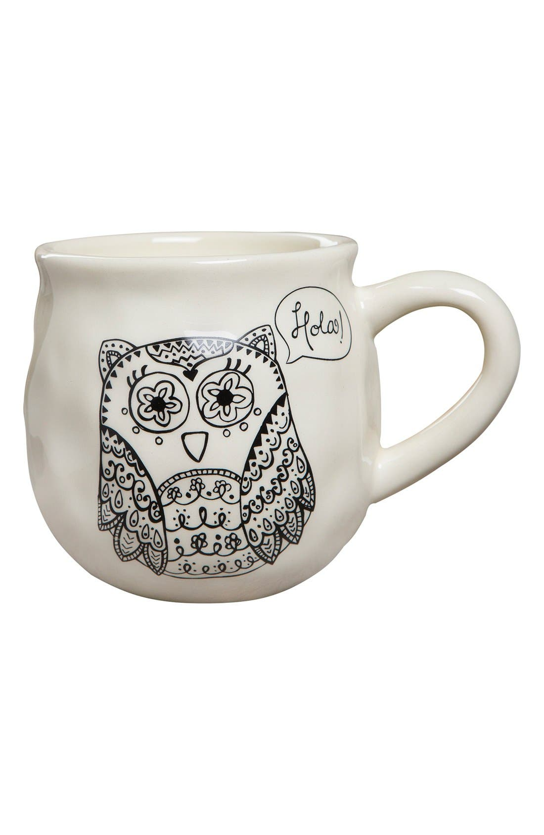 Main Image - Natural Life 'Happy Owl' Ceramic Mug