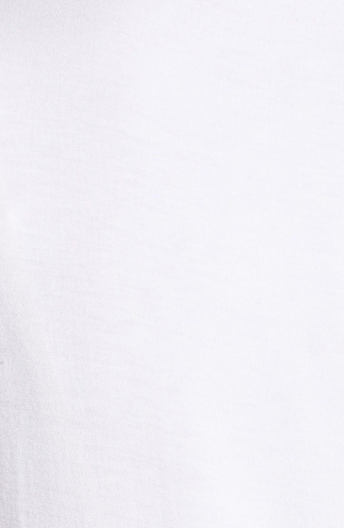 Modal Jersey V-Neck Tee,                             Alternate thumbnail 5, color,                             White