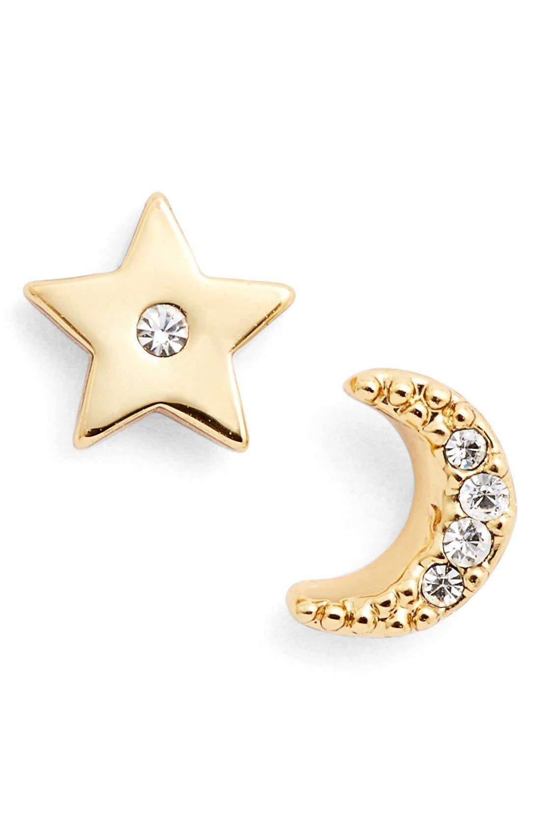 Alternate Image 1 Selected - kate spade new york 'star and moon' asymmetrical stud earrings