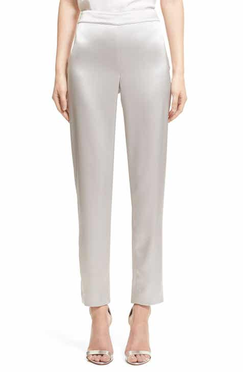 252119b75ab St. John Collection Liquid Satin Crop Pants