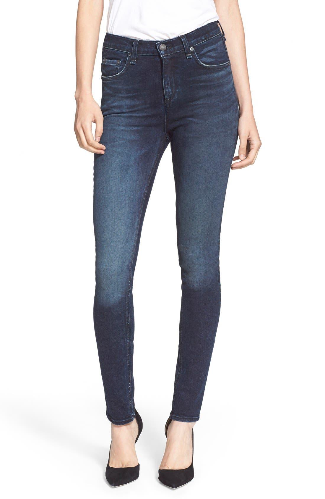 Main Image - rag & bone/JEAN High Rise Skinny Jeans (St Germain)