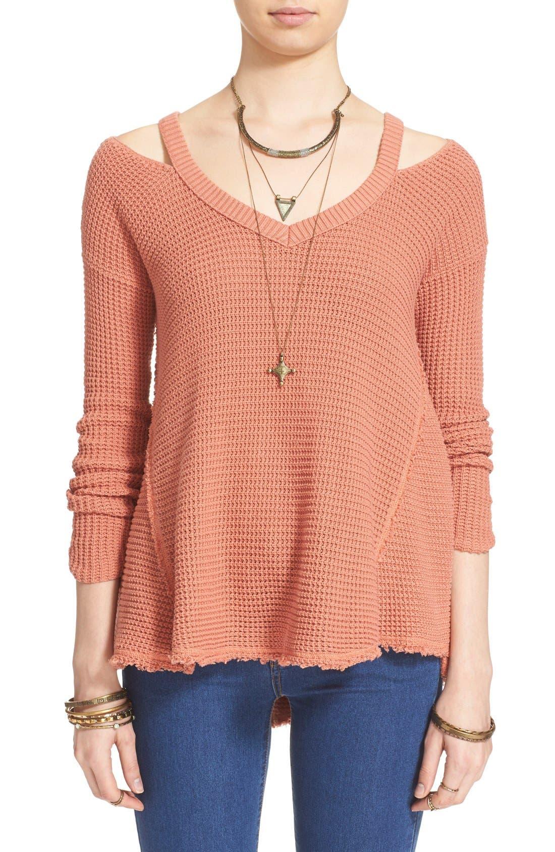 Main Image - Free People 'Moonshine V' Cold Shoulder Sweater