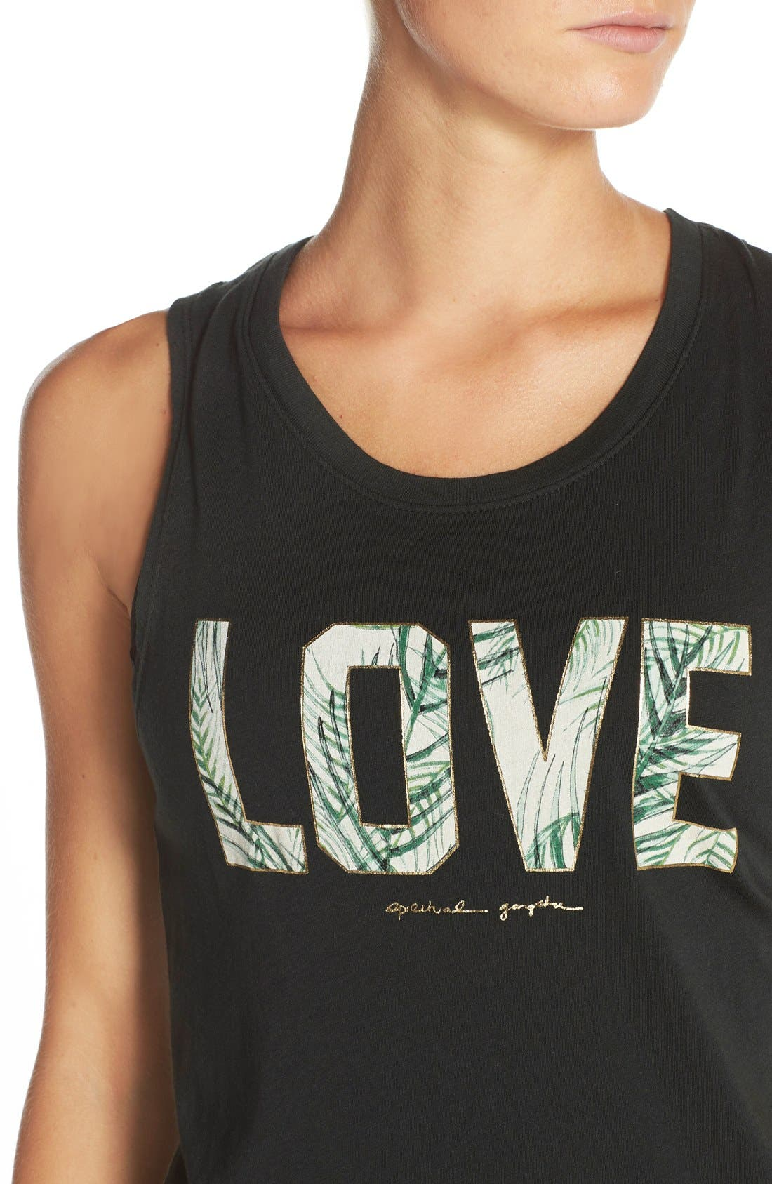Alternate Image 4  - Spiritual Gangster 'Palm Love' Supima® Cotton & Modal Tank