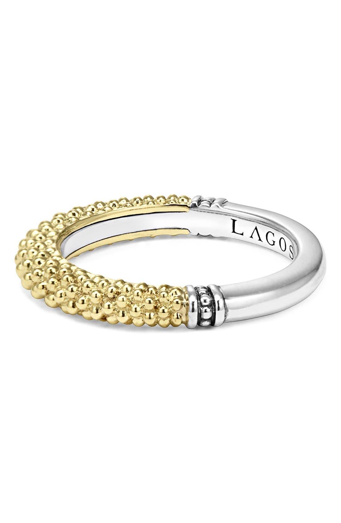 Caviar Stacking Ring,                             Alternate thumbnail 3, color,                             Gold