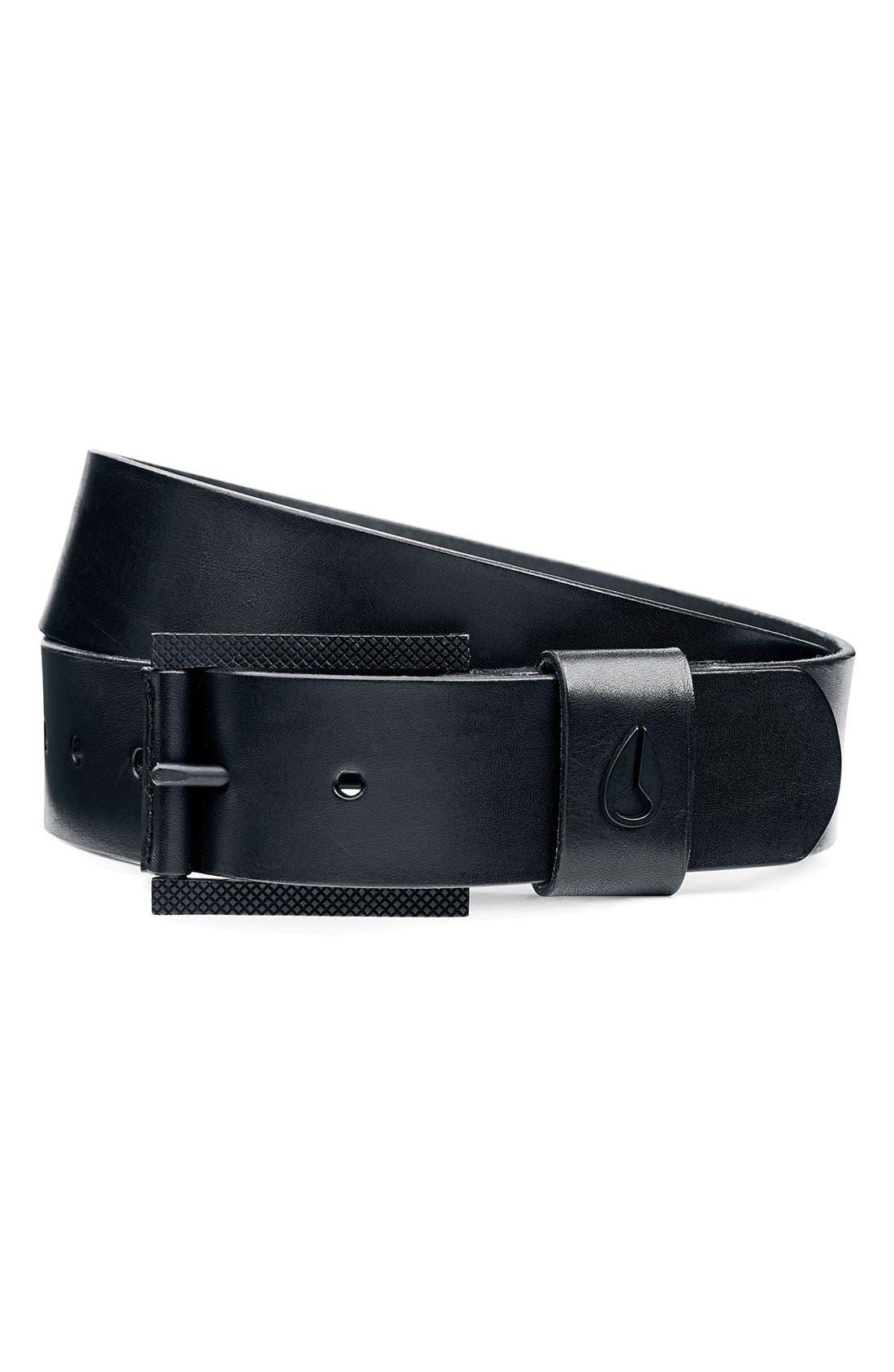Alternate Image 1 Selected - Nixon 'Americana' Leather Belt