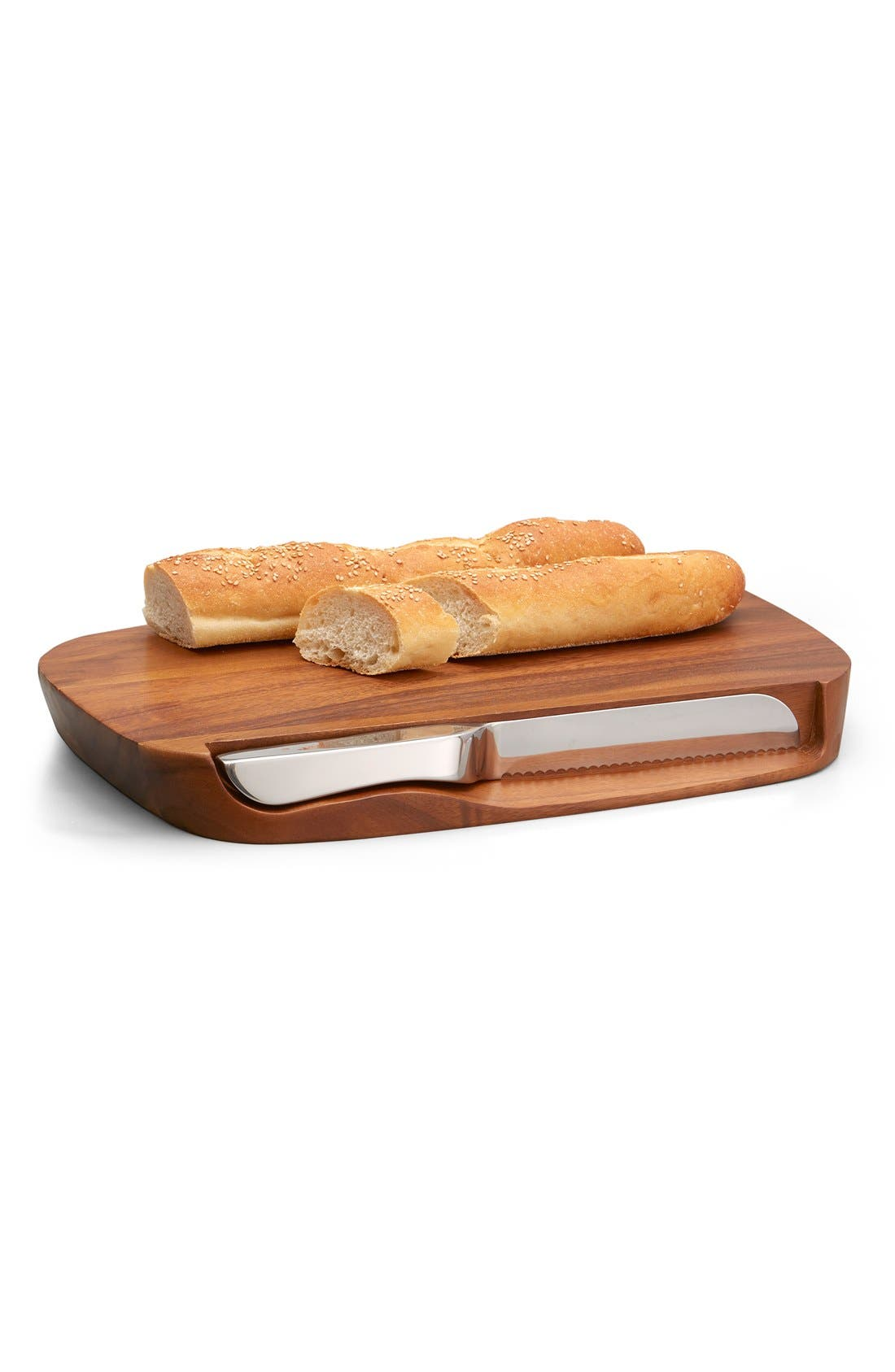 'Blend' Bread Board & Knife,                             Main thumbnail 1, color,                             Brown