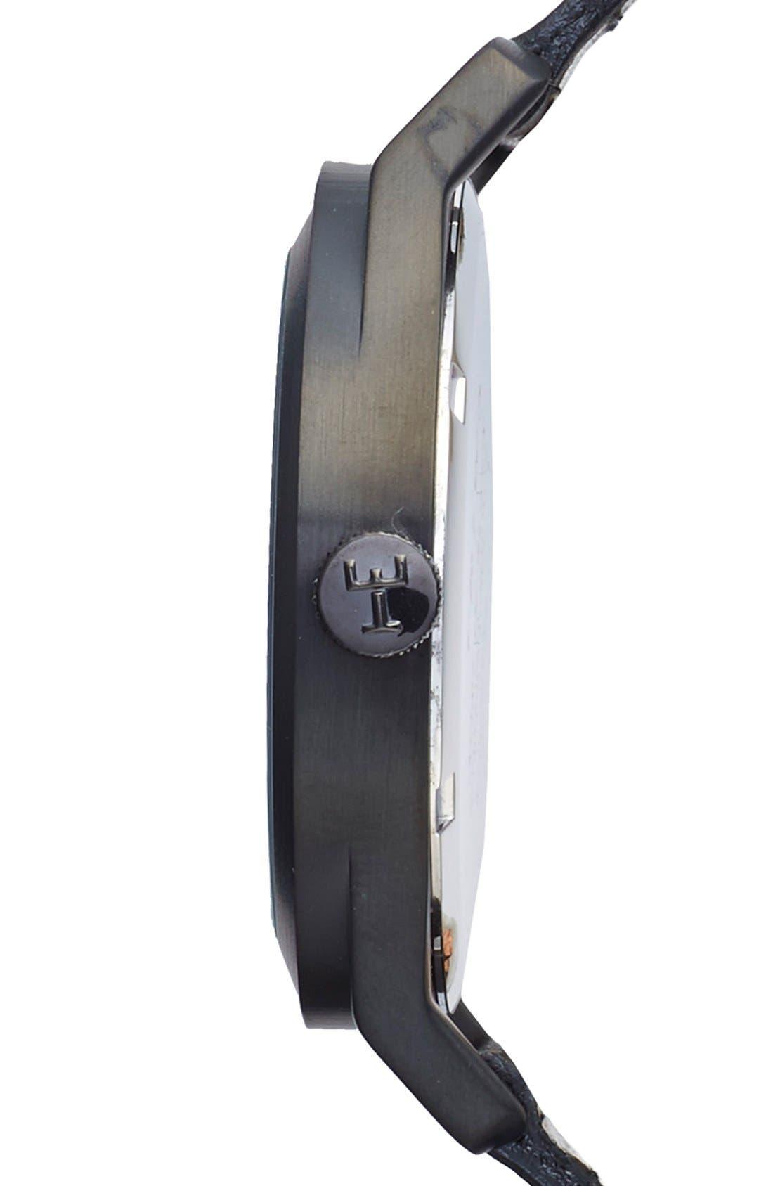 Alternate Image 3  - TRIWA Sort of Black Leather Strap Watch, 38mm
