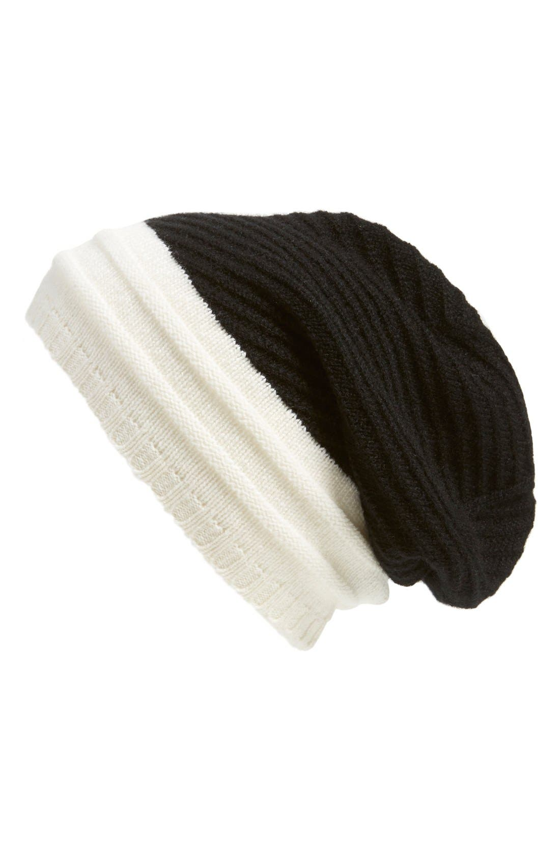 Alternate Image 1 Selected - Echo Cashmere Colorblock Beanie