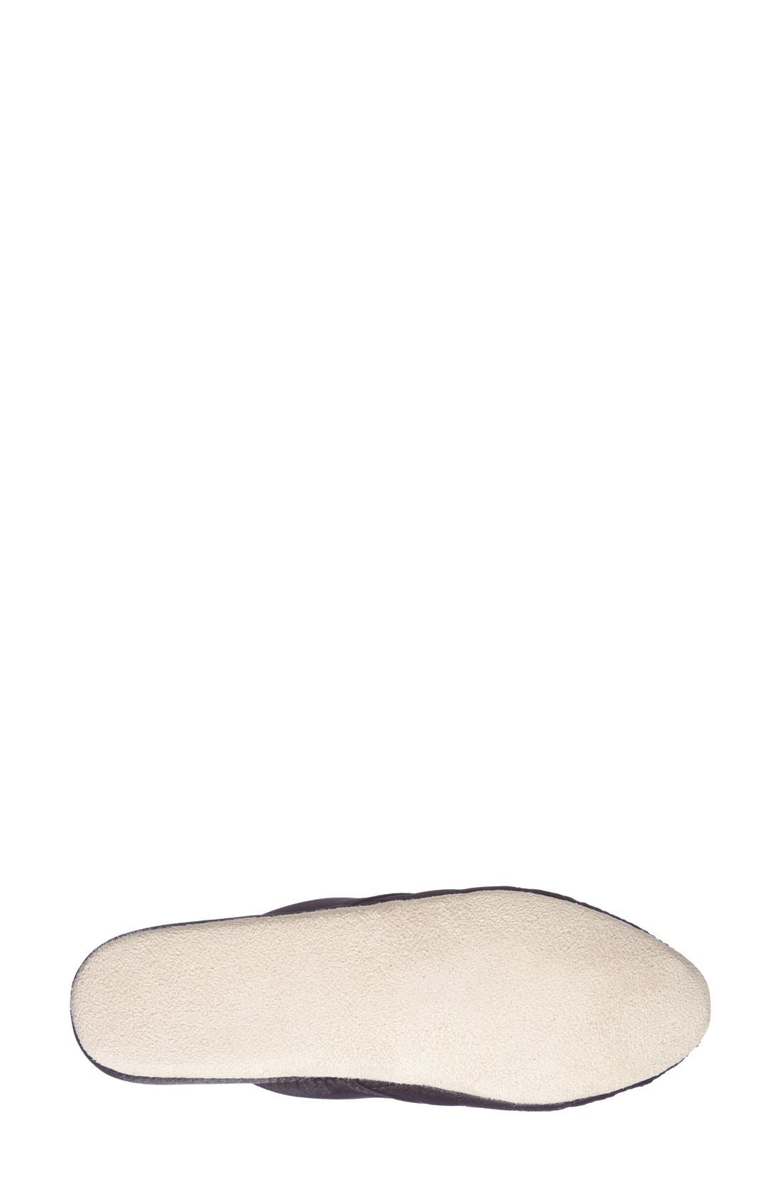 'Jackie' Slipper,                             Alternate thumbnail 4, color,                             Black/ Ivory