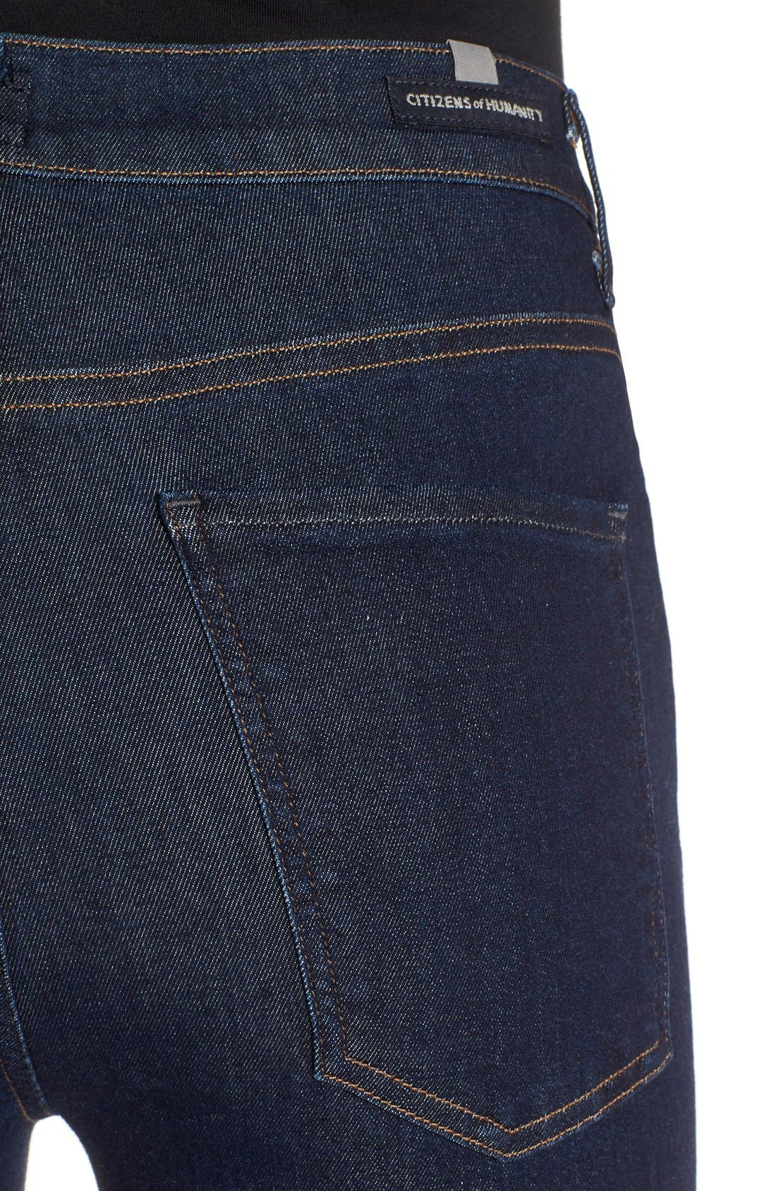 Alternate Image 4  - Citizens of Humanity 'Carlie' High Rise Skinny Jeans (Clean Blue)