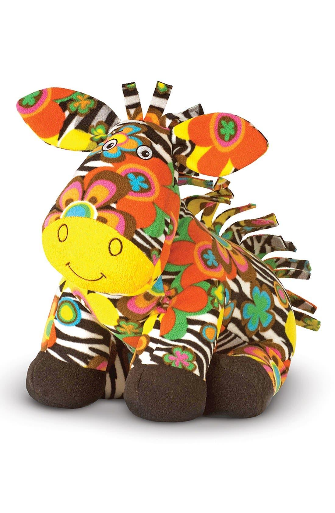 Main Image - Melissa & Doug 'Beeposh - Zelda Zebra' Plush Toy