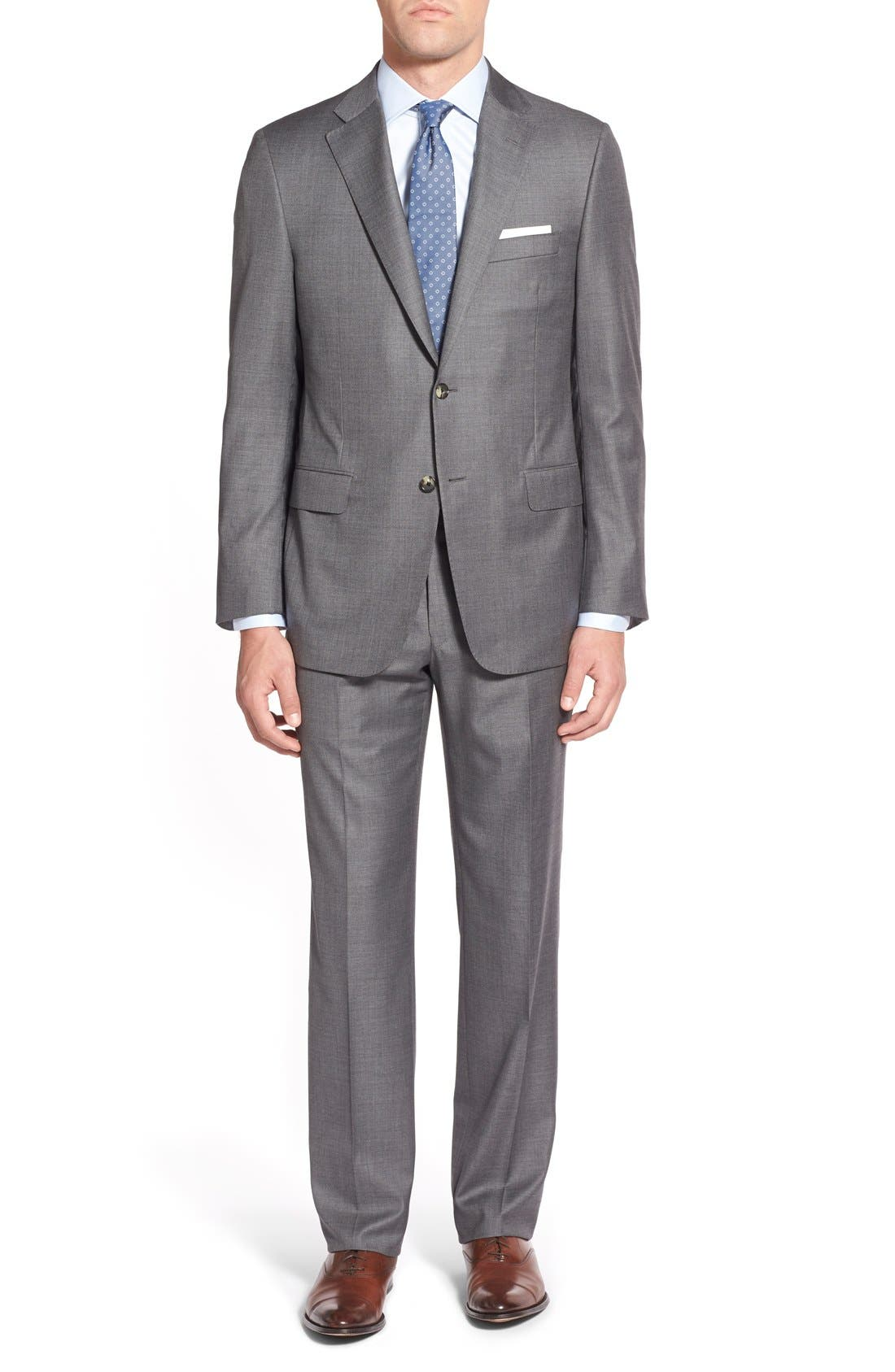 Hickey Freeman 'Beacon B' Classic Fit Solid Wool Suit