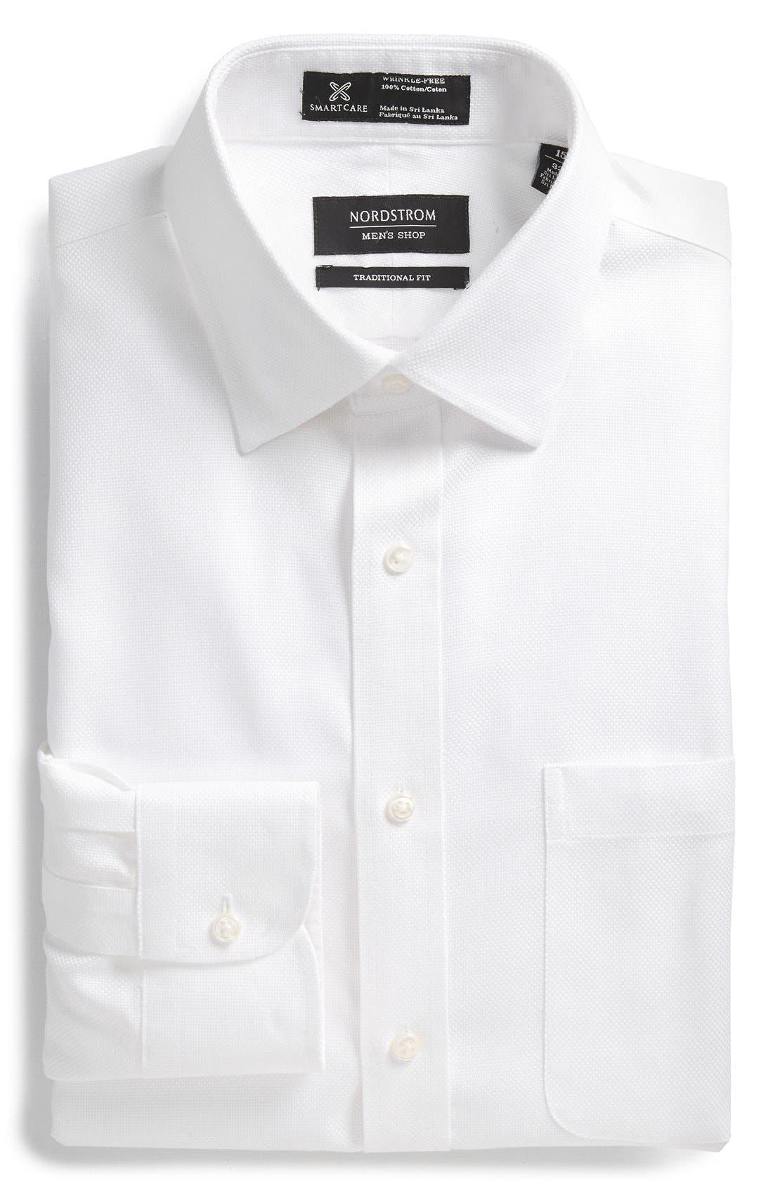 Main Image - Nordstrom Men's Shop Smartcare™ Traditional Fit Solid Dress Shirt