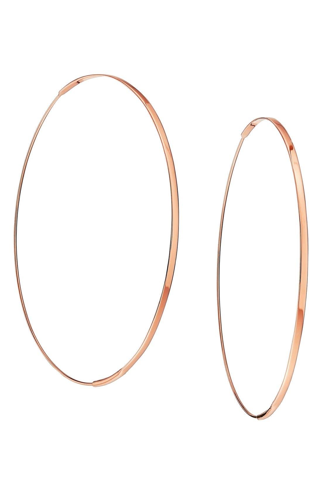 LANA JEWELRY Large Flat Magic Hoop Earrings