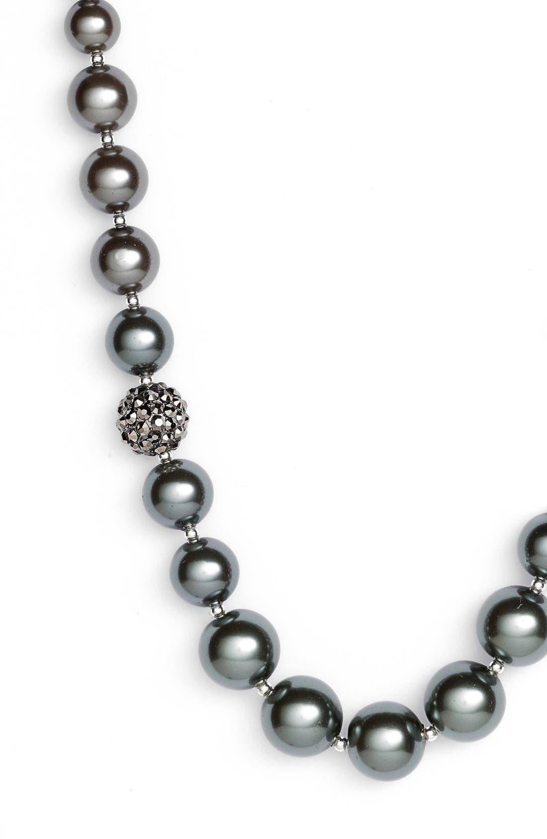 Alternate Image 2  - Anne Klein Faux Pearl Ombré Long Necklace